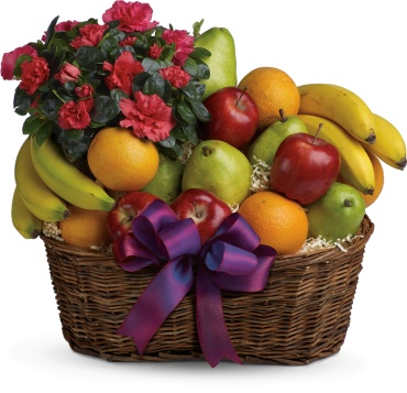 Fruits and Blooms Basket