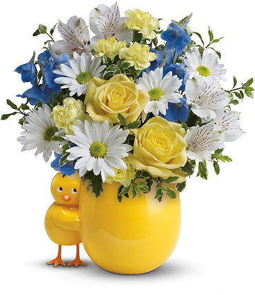 Sweet Peep Bouquet - Baby Blue
